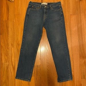 Levi's 505 Red Tab Straight Leg Mom Jeans size 12R